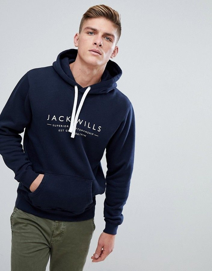 312b81d2bcb Jack Wills Batsford Heritage Hoodie In Navy | Men's Coat/Hoodies ...