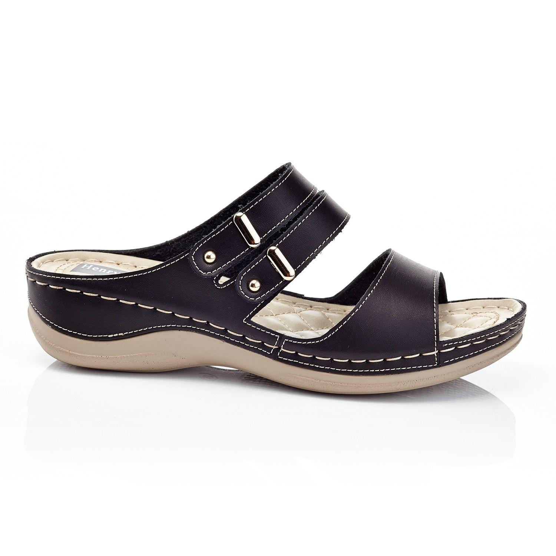 Henry Ferrera Womens Comfort Aaa Flat Sandals