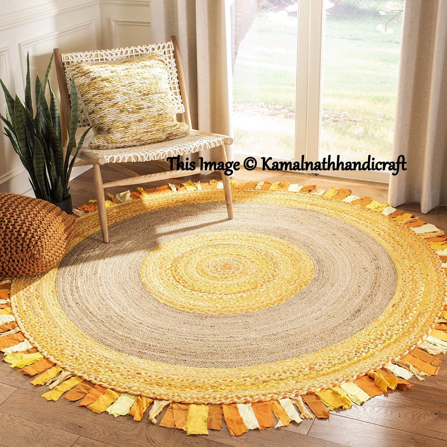 Rug Braided Round Meditation Mat