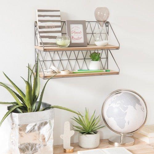 wandregal aus metall grau chancho pinterest room metal walls y room decor. Black Bedroom Furniture Sets. Home Design Ideas
