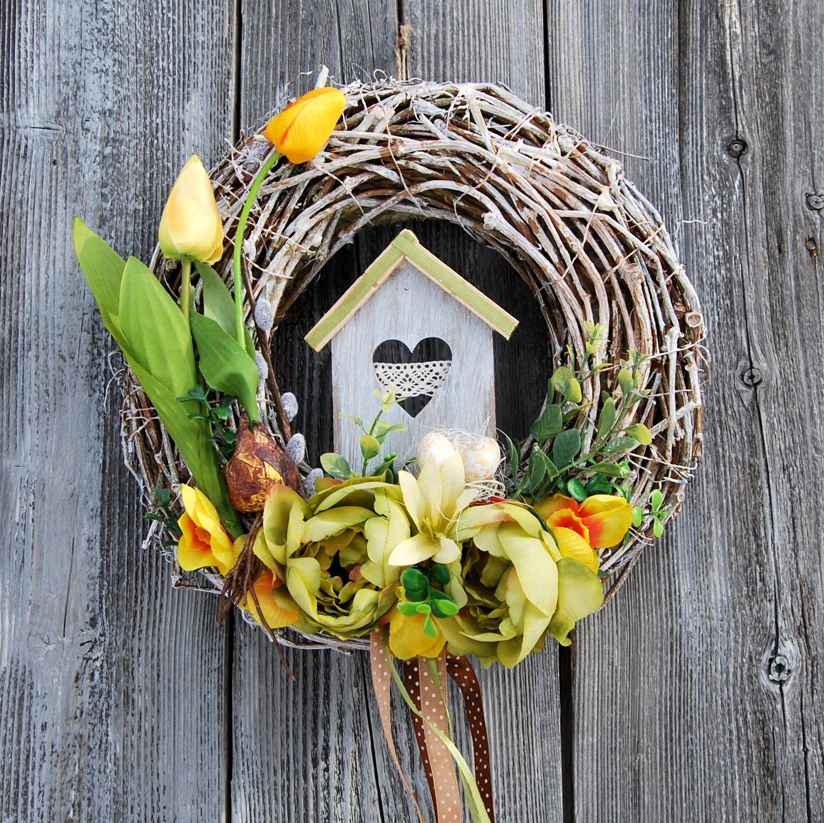 Wianek Wielkanocny Wianek Wielkanoc Wianek Na Drzwi Stroik
