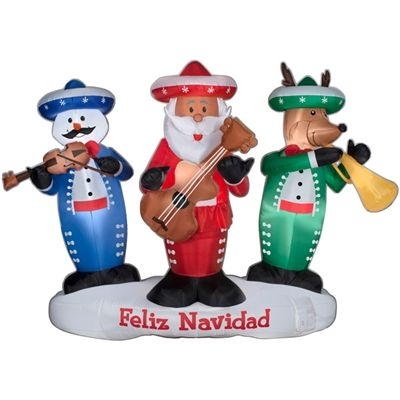 Lowes Christmas Inflatables.Animated Musical Airblown Mariachi Band Christmas Ideas