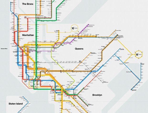 Subway Map Nyc 2012.Massimo Vignelli S Signed 2012 Nyc Subway Diagram Nyc Nyc Subway