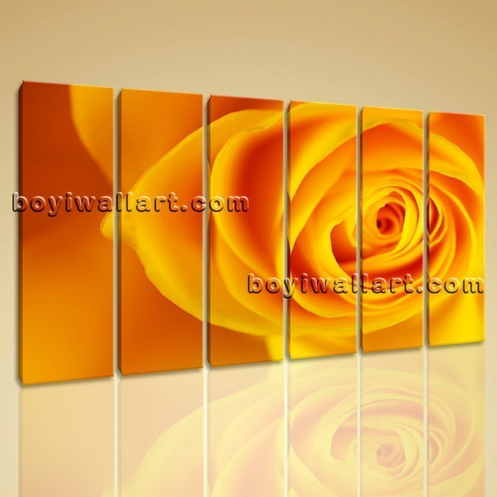 Large Framed Contemporary Abstract Rose Flower Floral Painting Print ...