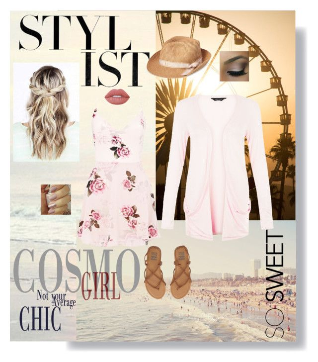 """""""Imma make you mine by the end of the summer"""" by steph-dancer on Polyvore featuring New Look, Lipsy, Billabong, August Hat and Lime Crime"""