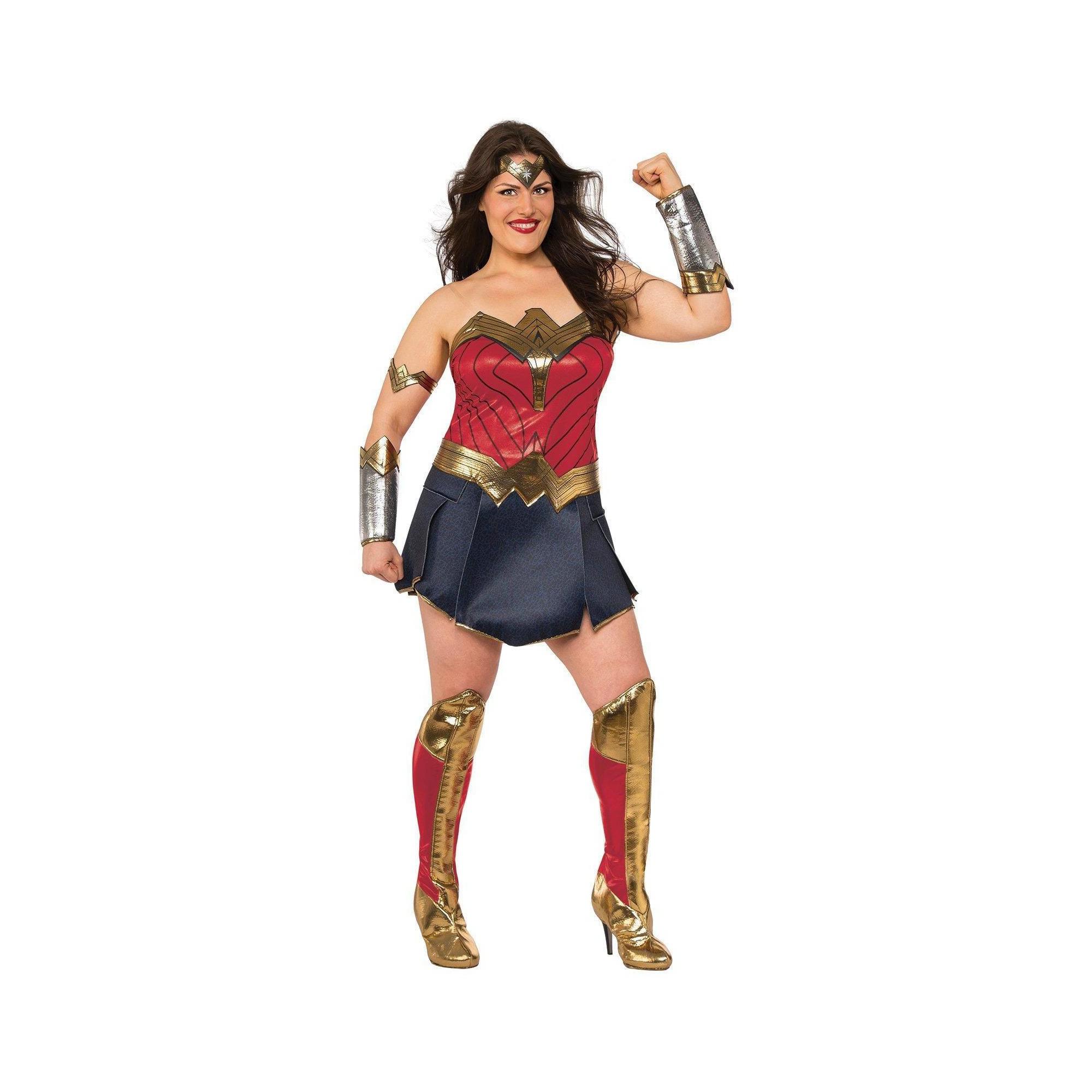 Wonder Woman Costume Adult Justice League Halloween Fancy Dress