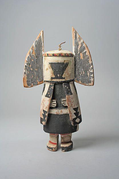 Katsina (Angwusnasomtaqa), 20th century. - United States, Arizona, Culture: Hopi Medium: Wood, paint, cloth