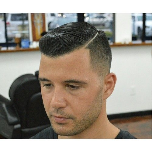 Chicos Model Haircut: Unnamed Model With Slick Haircut And Stubble