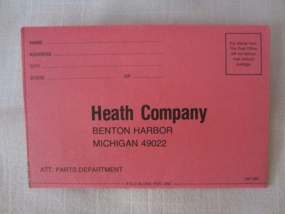 Heathkit HeathZenith HeathSchlumberger Parts Order Form