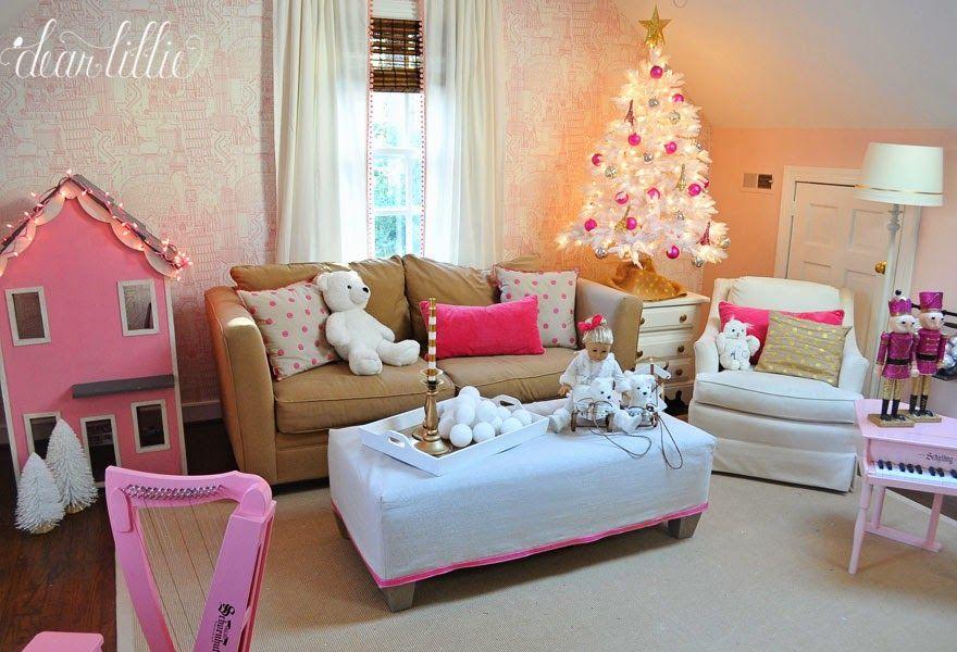 Dear Lillie A Very Pink Christmas Playroom Pink Christmas Playroom Dear Lillie A very pink christmas playroom