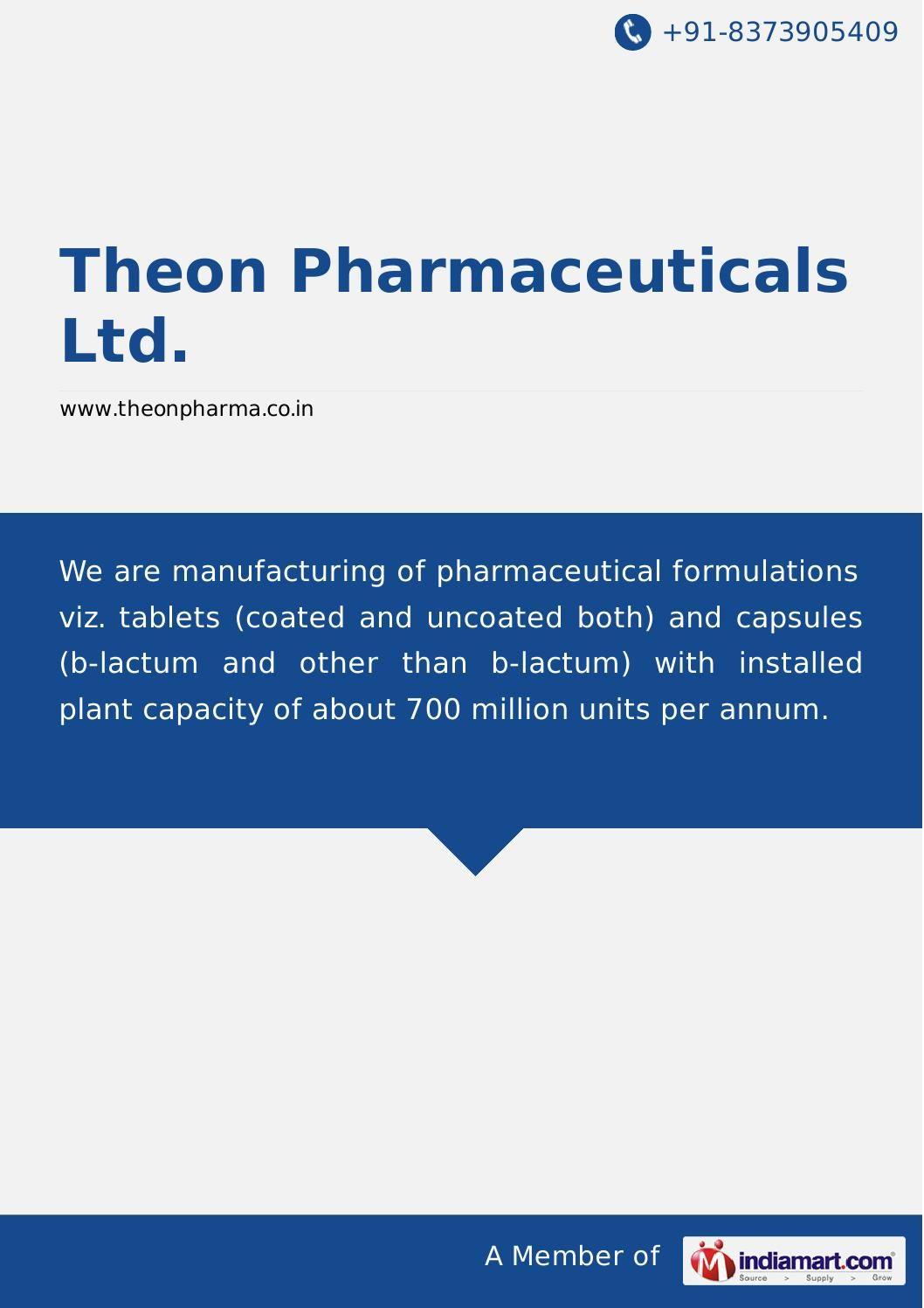 Theon Pharmaceuticals Ltd Premier Health Health Care The Unit
