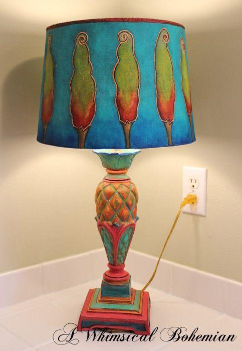 A Whimsical Bohemian Bohemian Lamp Bohemian Decor Funky Home Decor