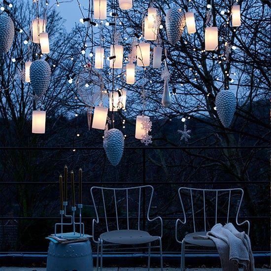 LOVE ITu2014outdoor Hanging Lantern Lights, Pinecones, Snowflakes, Ornaments, U0026  String