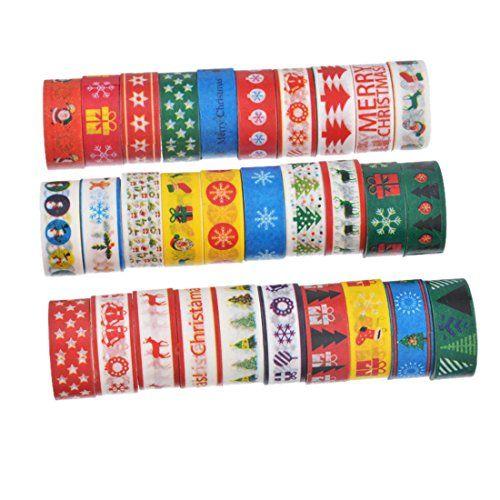 Souarts Style Noël Ruban Adhésif D'Emballage Décoratif En Papier