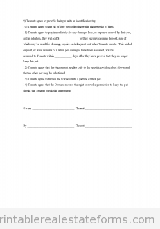 lease addendum template free pet agreement addendum to the rental agreement 22726