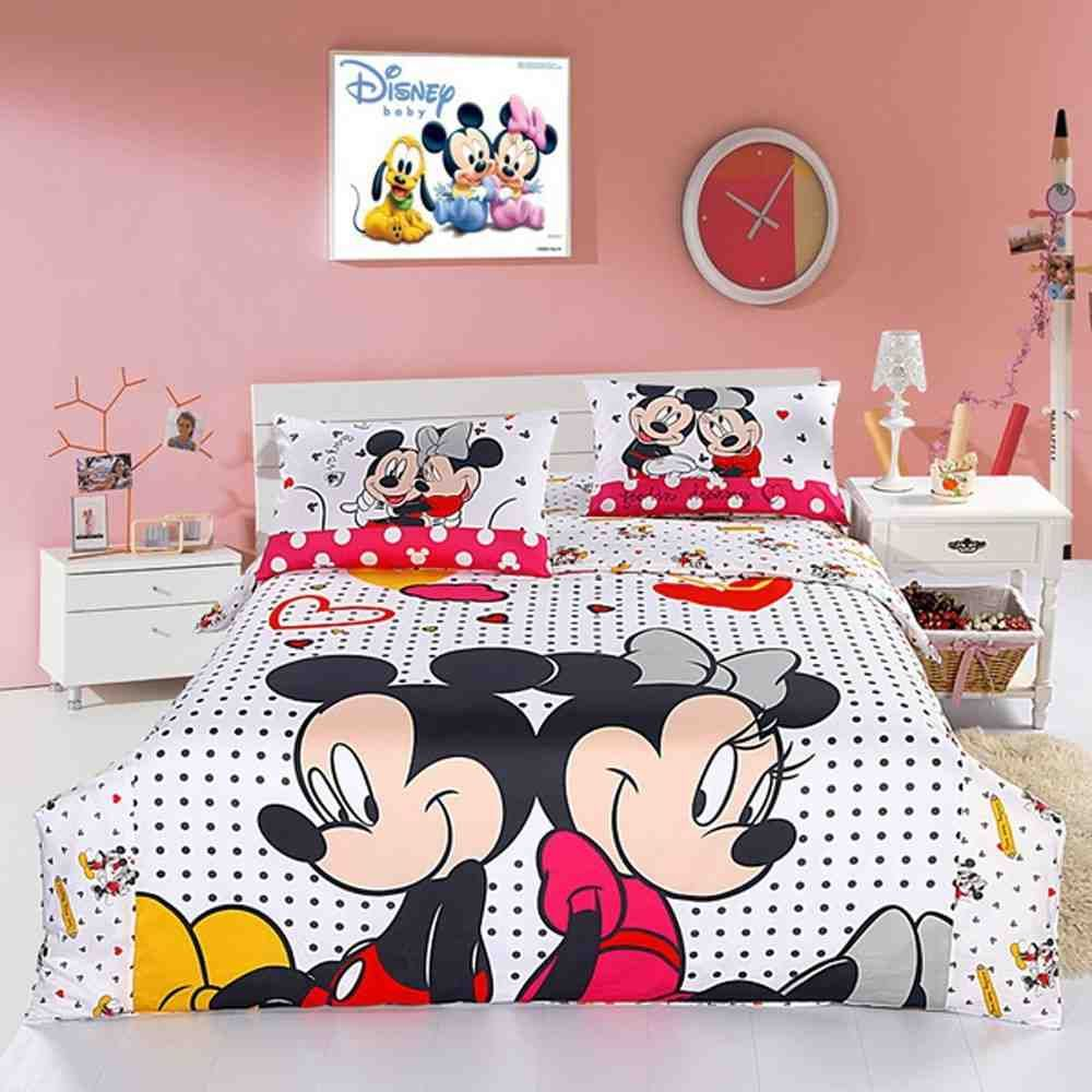 Mickey Mouse Twin Comforter Set | Minnie mouse bedroom decor