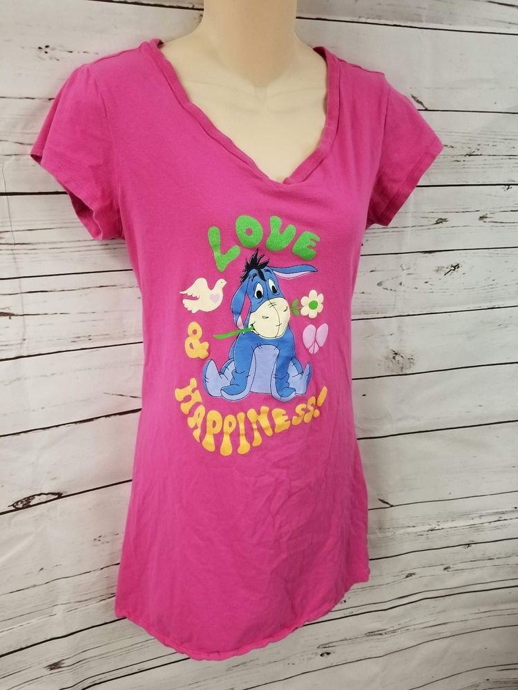 3246456078 Disney Night Gown Womens Size M Med Eeyore Sleep Shirt Pink Winnie the Pooh  364  fashion  clothing  shoes  accessories  womensclothing  intimatessleep   ad ...