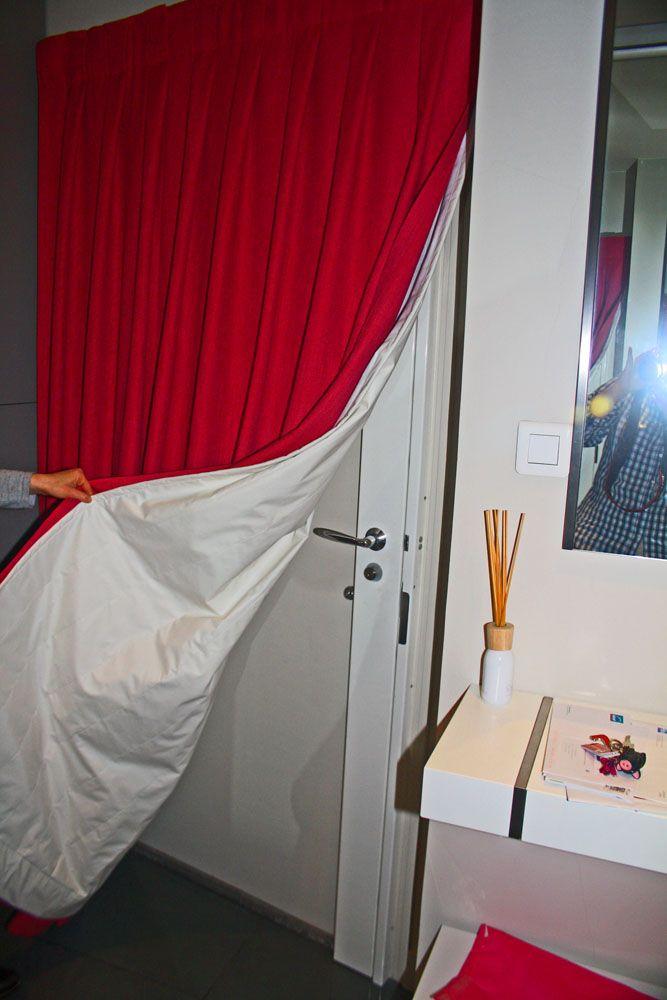 rideau isolant isolation porte