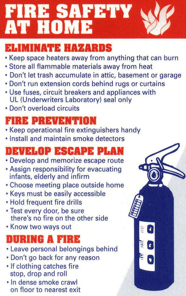 Home Fire Prevention & Safety Tips Fire prevention, Fire