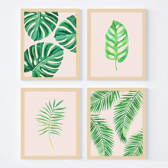 Palm Leaf Art Print Banana Leaf Decor Monstera Nature Etsy Banana Leaf Decor Leaf Decor Palm Leaf Art