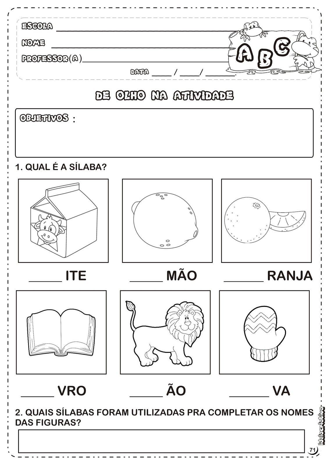 Atividades Alfabetizacao Letra L Atividades Letra E Atividades