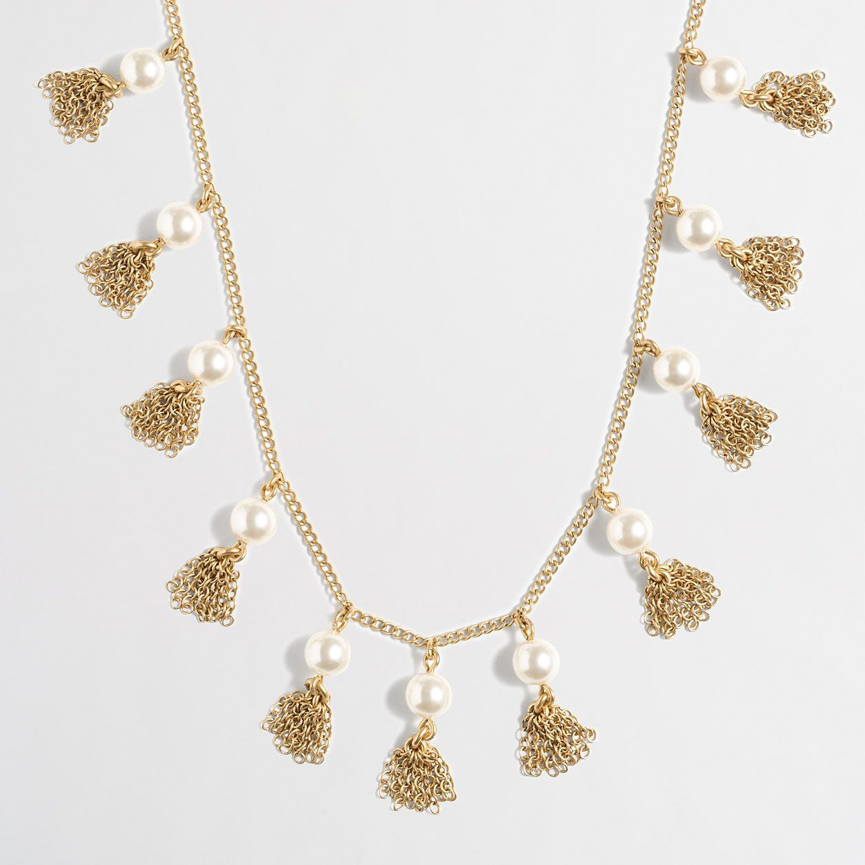 2cff3706f76e44 Factory pearl and chain tassel necklace : Jewelry   J.Crew Factory