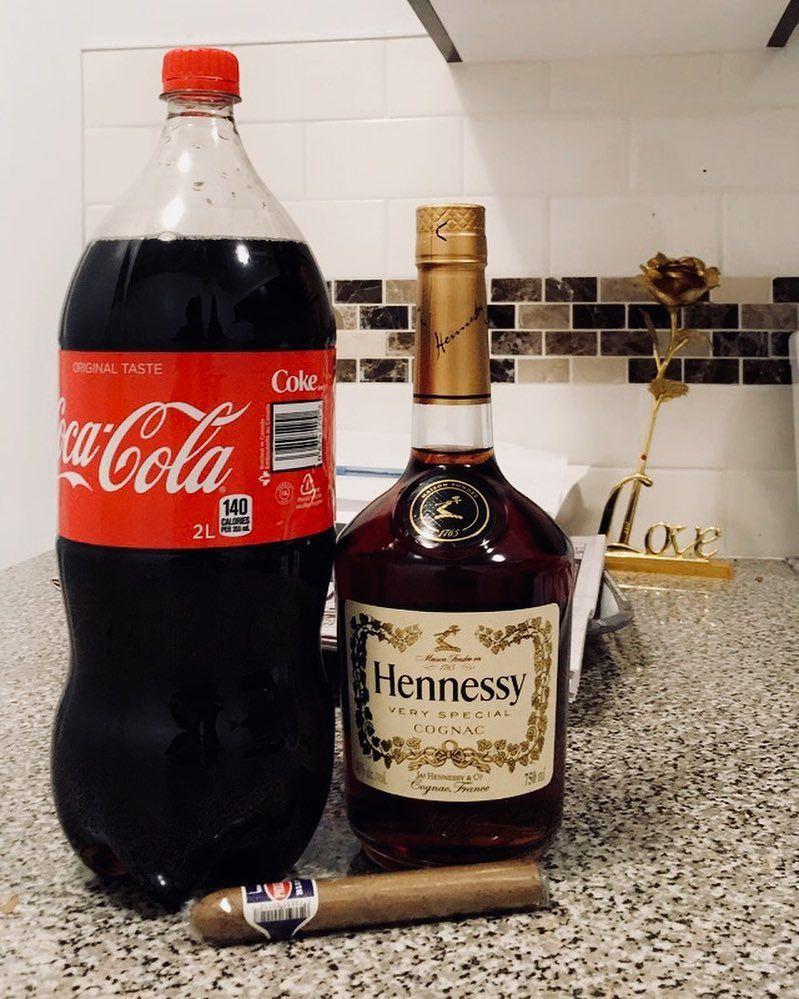 lastnight #cocacola #henny #hennessy #cognac #lit #night