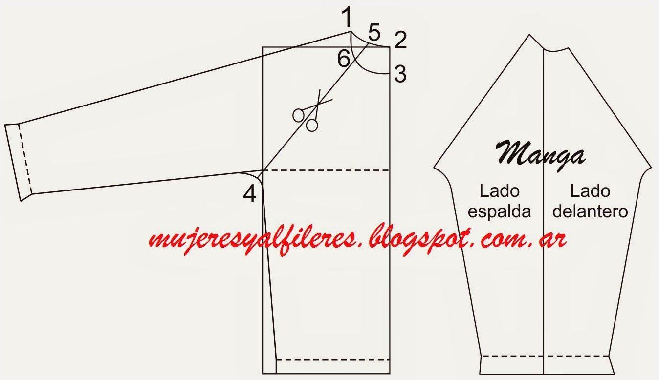 Mujeres y alfileres: Moldería de buzo manga raglan | patterns ...