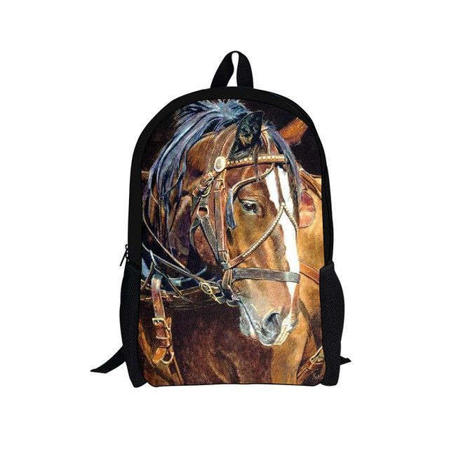 966e5281e134 FORUDESIGNS Animal Print School Bag for Teenager Girls Boys