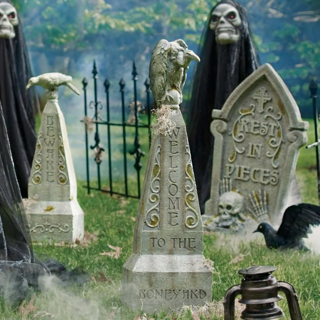 20 Serious and Scary Halloween Tombstone Decor Ideas Halloween and