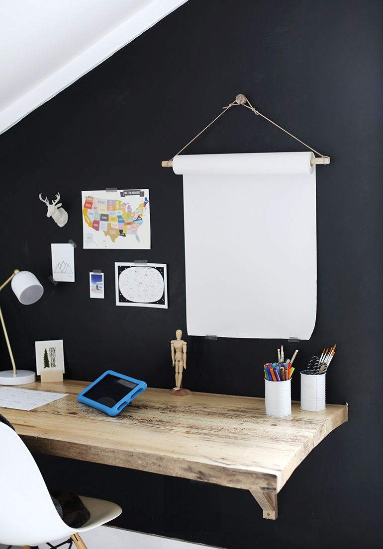 Diy Hanging Paper Roll Kids Study Space Kids Study Spaces