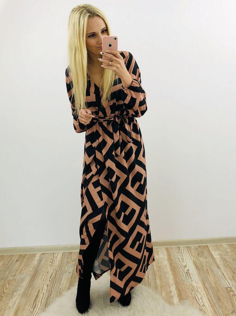 40 Outfit Ideas For Winter Orange Print Dress Fashion Autumn Fashion