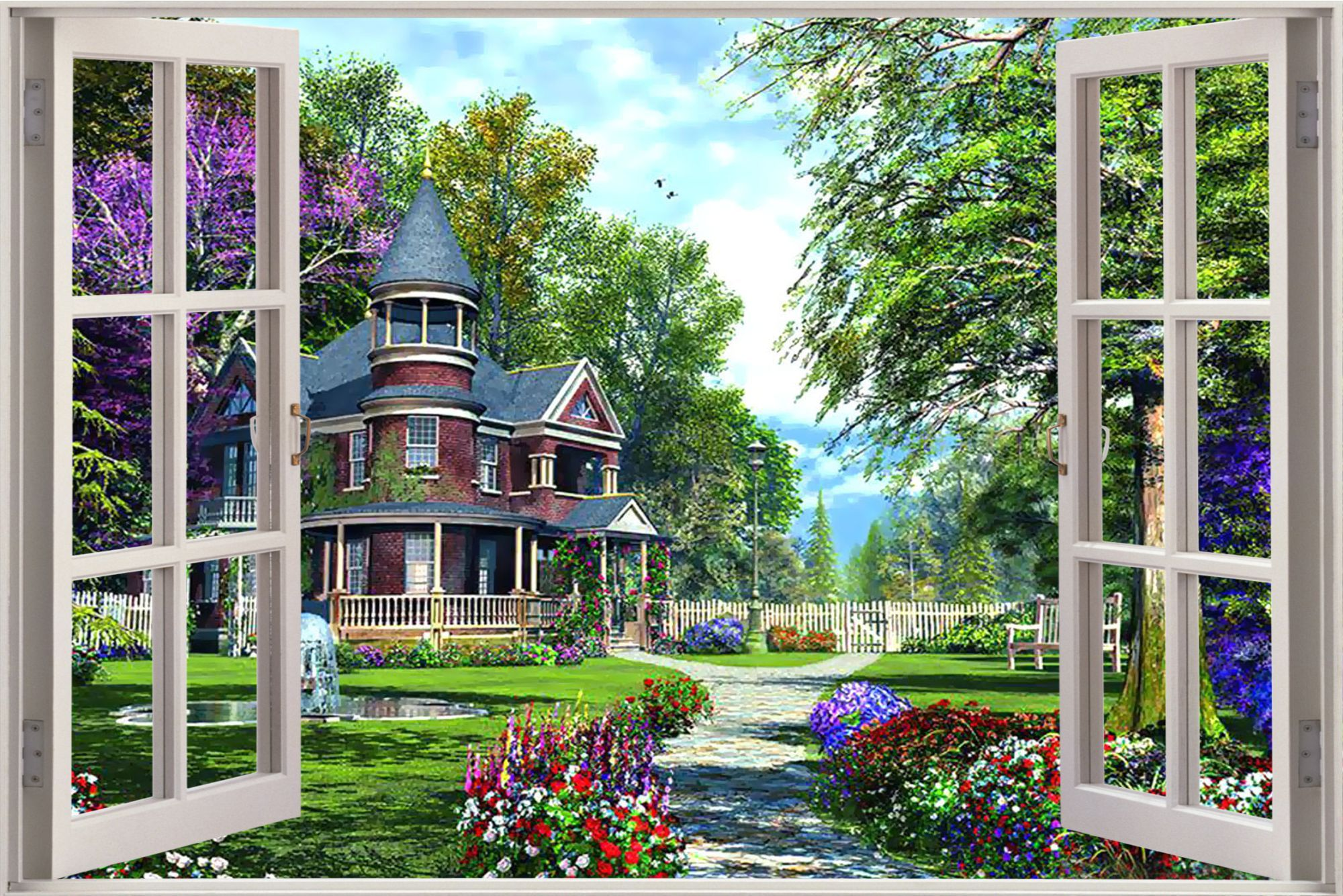 Window View Of Garden   Google Search · Window ViewDream GardenWall Murals Victorian