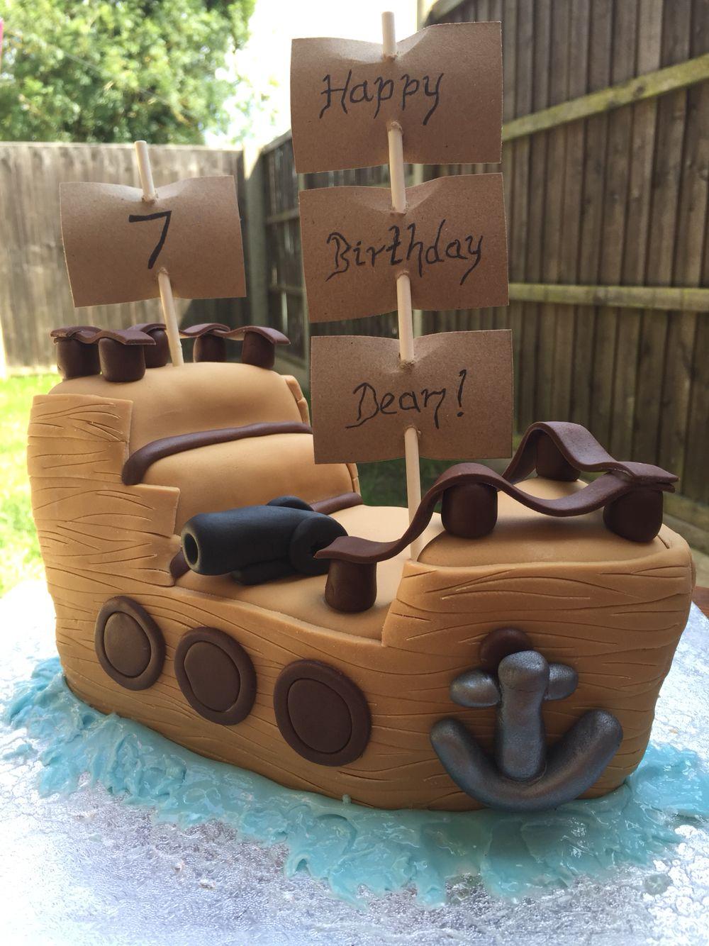 Pirate ship birthday cake Pirate Ships Pinterest Pirate ships