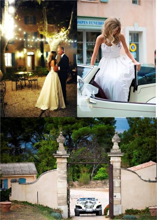 South of France Wedding. The Bride wore a #Watters Houston Gown.
