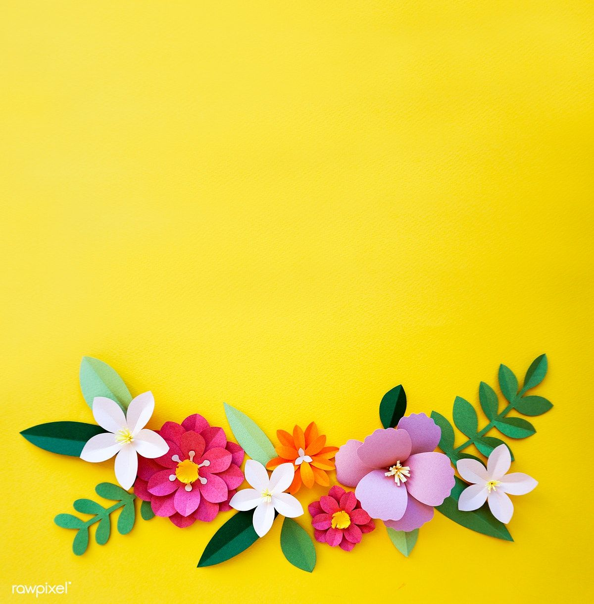 Download Premium Image Of Flowers Handmade Design Papercraft Art 261746 Paper Flower Art Paper Crafts Flower Phone Wallpaper