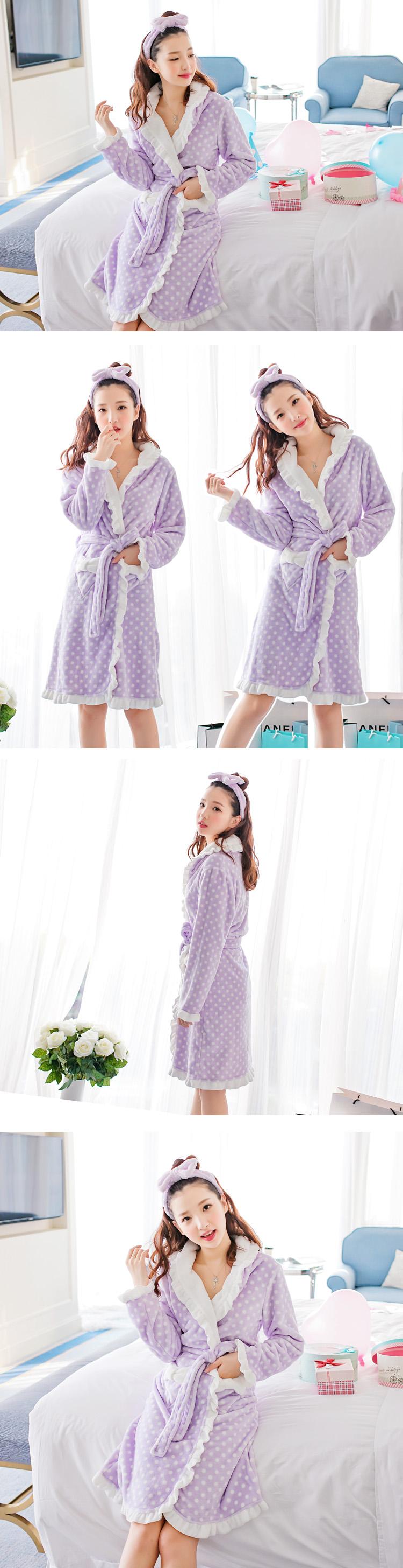 Wydz   verkko mukaan Dan lapsen naisten malleja syksyllä ja talvella  flanelli pyjama Coral sametti viitta pitsi kylpytakki kotip…  2099398592