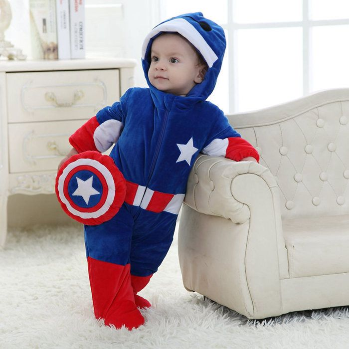 Cute Baby Captain America Baby Boy Outfits Baby Boy Clothes Newborn Winter Baby Clothes Captain marvel is a believer in truth and justice but also fights between the aggressiveness and quick tempered character that is within her. cute baby captain america baby boy