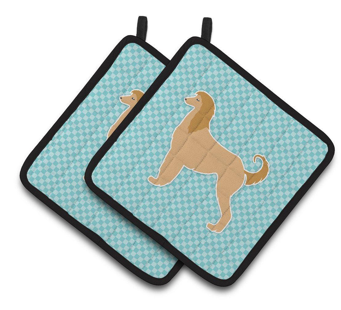 Afghan Hound Checkerboard Potholder