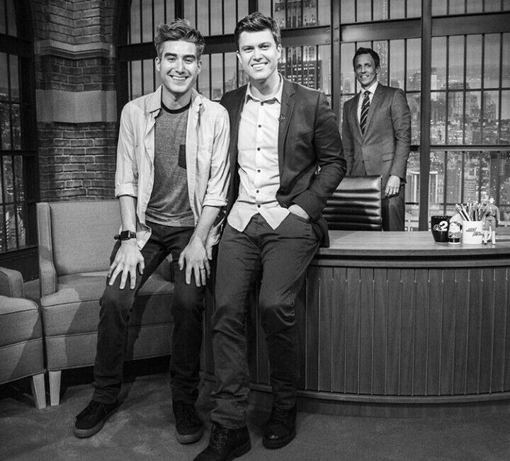 Casey And Colin Jost Saturday Night Live Impractical Jokers Lifelong Friends