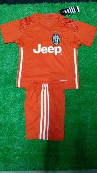 detailed look a374d 693c1 Kid's Juventus 16-17 Season Goalkeeper Orange Soccer Kit ...