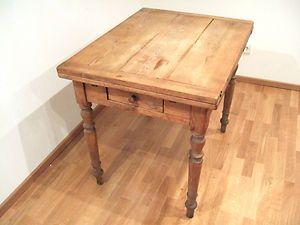 Küchen - oder Esstisch antik ausziehbar mit Schublade - Rarität ...