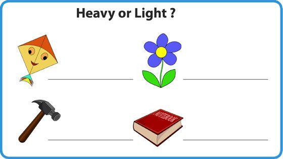 Weight Heavy Or Light Worksheet For Kids Mocomi Math For Kids Kids Math Worksheets Worksheets For Kids Kindergarten worksheets heavy and light