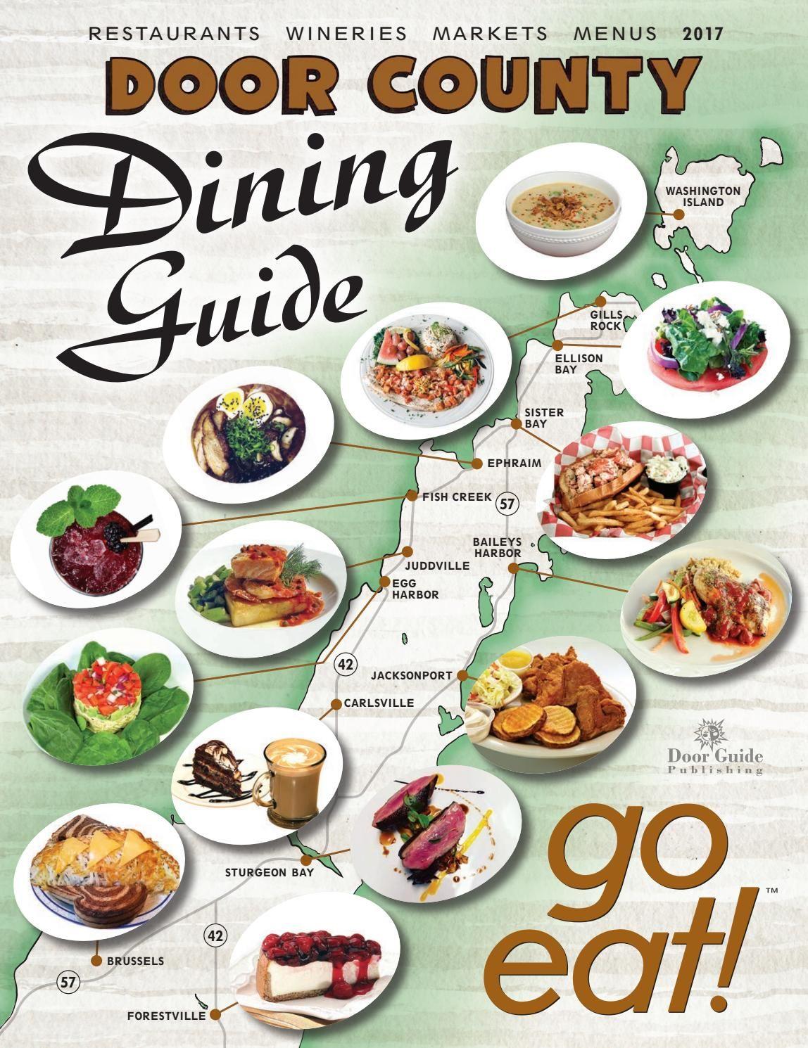 2017 Door County Dining Guide Door County Dining Doors