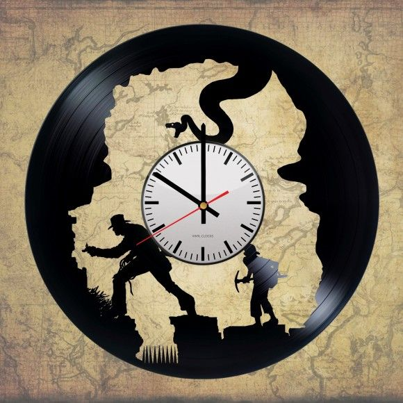 Indiana Jones Handmade Vinyl Record Wall Clock Fan Gift | Record ...