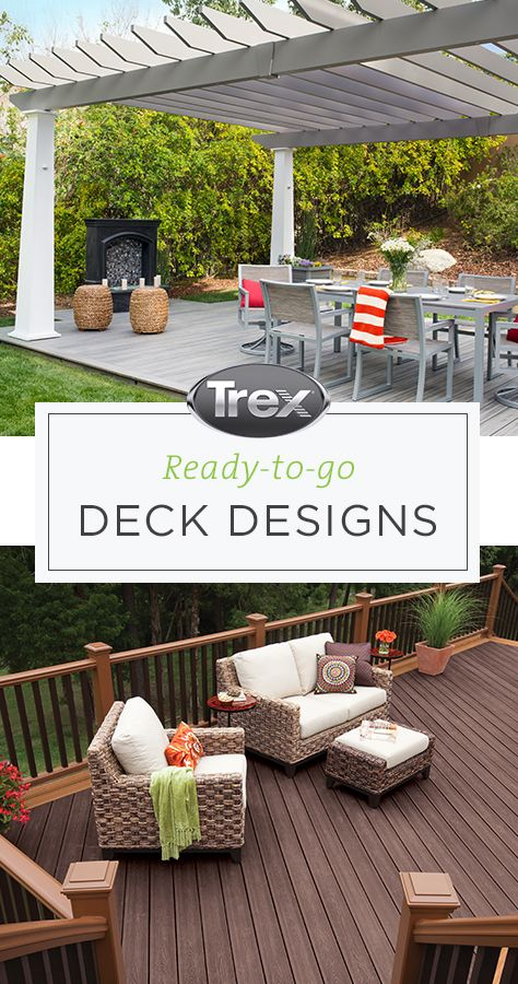 Explore Top Deck Design Plans From Trex To Find Inspiration And Learn How To Get Started Once You Find A Plan You Deck Design Backyard Plan Deck Design Plans