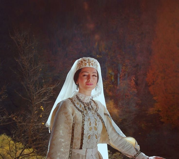 Armenian Lady In A Traditional Wedding Dress