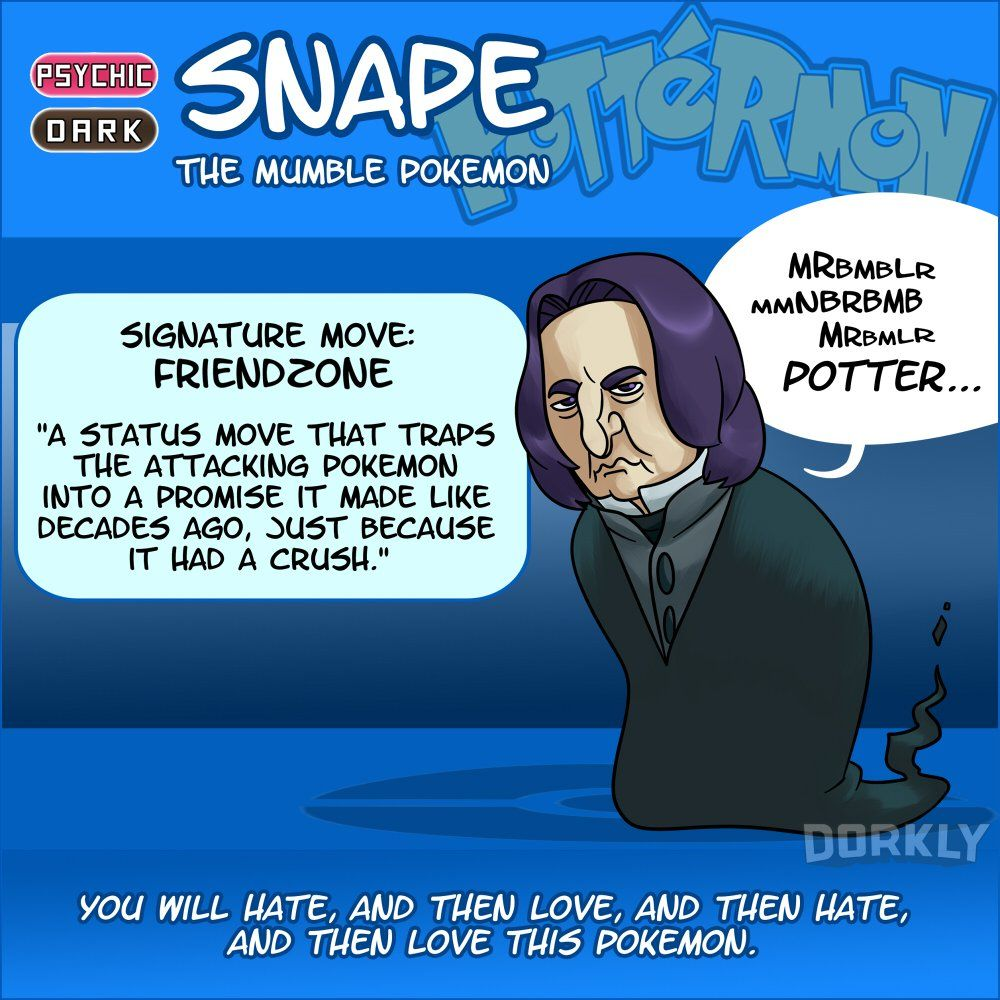 10 harry potter creatures i they were pokemon << OMG Snape XD