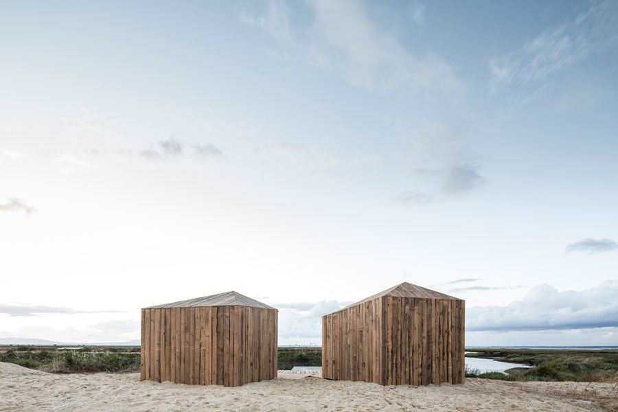 Despite it being just an hour south of Lisbon in the seaside village of Comporta, Portugal, Cabanas no Rio is a remote place for travelers to unwind and recharge. Architect Manuel Aires Mateus reimagined what were once two timber fishermen's huts to construct a high-style haven that accommodates just two people at any given time.