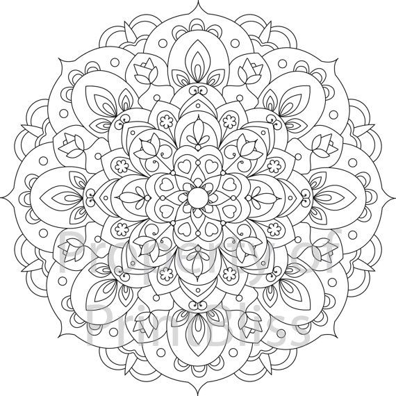12 Flower Mandala Printable Coloring Page Etsy Mandala Printable Mandala Coloring Books Mandala Coloring Pages